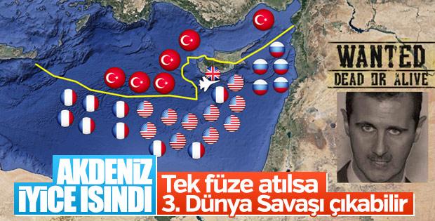 Dev filo Akdeniz'e ilerliyor