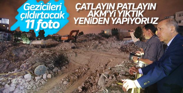 Erdoğan AKM ve Taksim Camii inşaatlarını inceledi