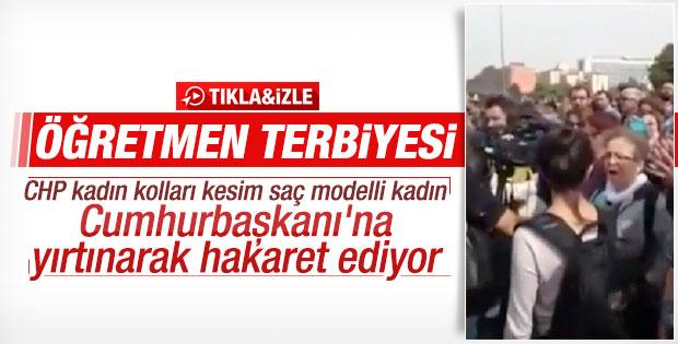 Emekli öğretmenden Erdoğan'a ağır hakaretler