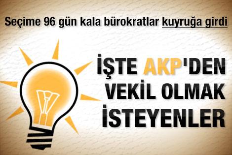 AKP'den aday olmak isteyen bürokratlar