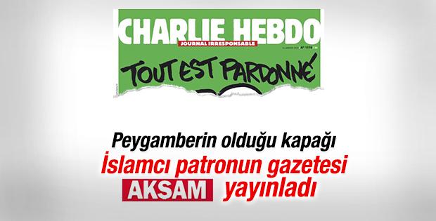 Akşam Hebdo'nun Hz. Muhammed karikatürünü yayınladı