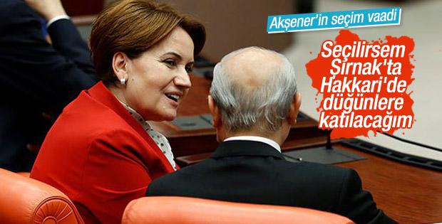 Akşener: Şırnak'ta Hakkari'de düğünlere katılacağım