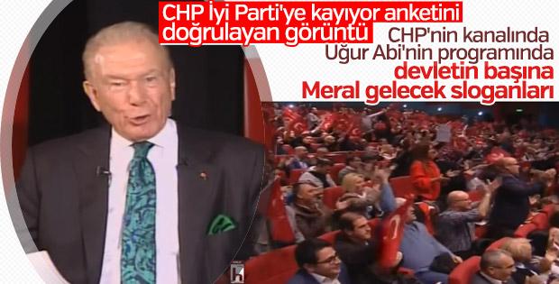 CHP'nin kanalında Akşener sloganları atıldı