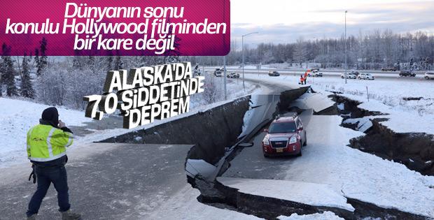 Alaska 7 büyüklüğünde depremle sarsıldı
