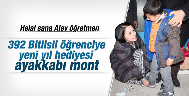 Alev Hoca'nın yardım çağrısıyla 392 öğrenci giydirildi