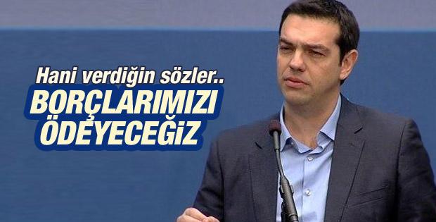 Alexis Tsipras: AMB ve IMF'ye borcumuzu ödeyeceğiz