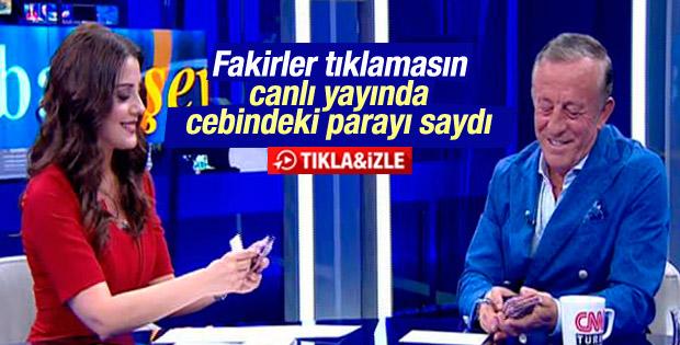 Ali Ağaoğlu canlı yayında cebindeki parayı saydı İZLE