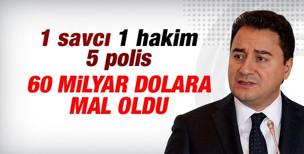 Ali Babacan: 1 savcı 1 hakim 5 polis milyarlara mal oldu