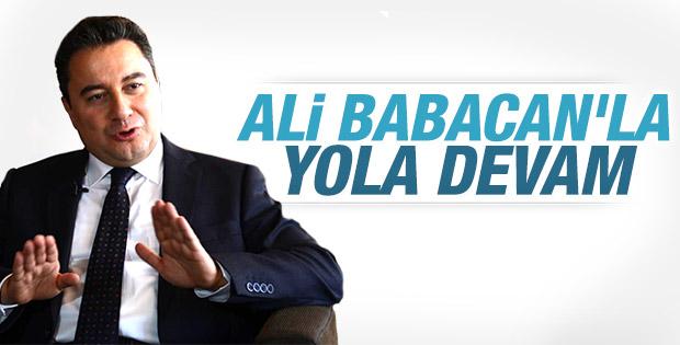 Ali Babacan AK Parti'den aday gösterildi