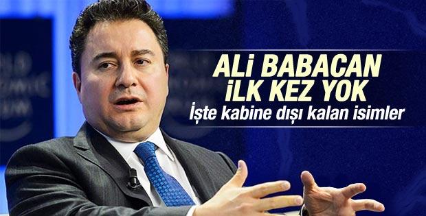 Ali Babacan Bakanlar Kurulu dışında kaldı
