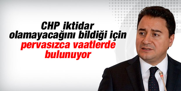 Ali Babacan CHP'nin ekonomi vaatlerini eleştirdi