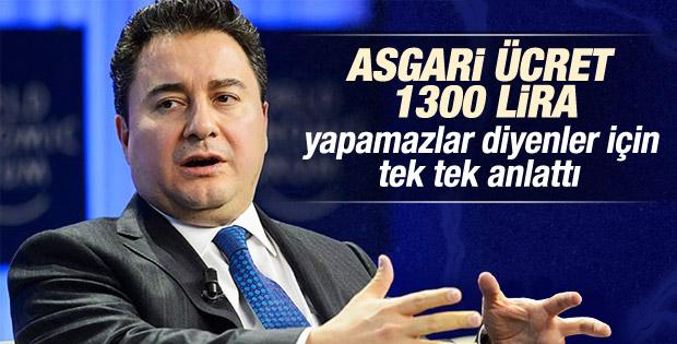 Ali Babacan asgari ücret için tarih verdi