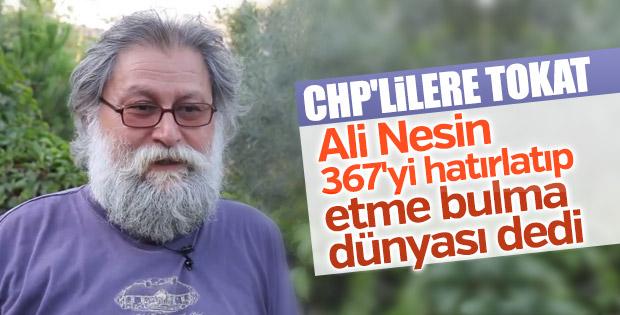 Ali Nesin 'hayır'cıları eleştirdi: Etme bulma dünyası