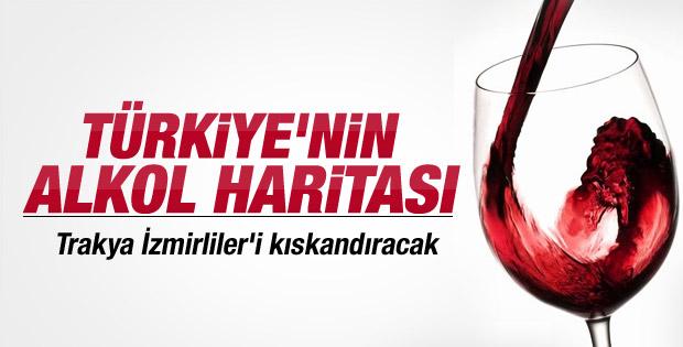 Türkiye'nin alkol haritası