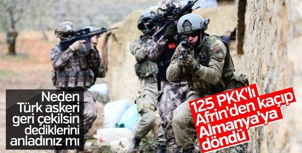 Almanlar tedirgin: Afrin'deki PKK'lılar Almanya'ya döndü