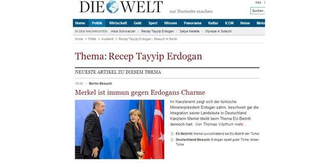 Başbakan Erdoğan'ın ziyareti Alman basınında