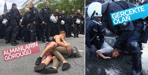 Alman devlet televizyonu polis şiddetini görmüyor