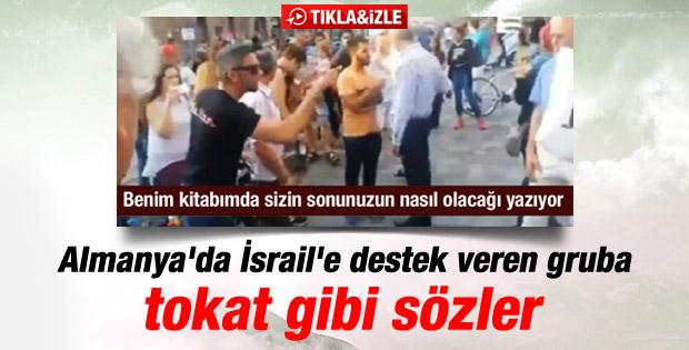 İsrail'e destek yürüyüşünü tek başına dağıtan Türk İZLE