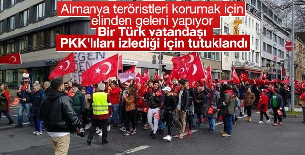 Bir Türk PKK'lıları izlediği için Almanya'da tutuklandı
