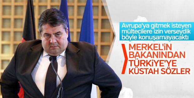 Alman bakan Sigmar Gabriel'den küstah Türkiye açıklaması