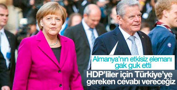 HDP aşığı Alman Cumhurbaşkanı Gauck'tan Türkiye'ye tehdit