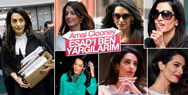 Amal Clooney Esad'ın yargılanmasını istiyor