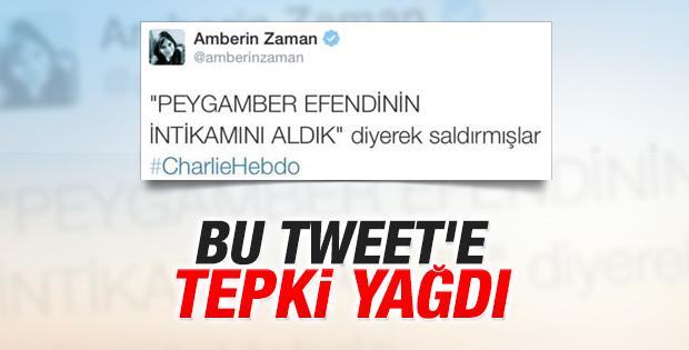 Amberin Zaman'dan tepki çeken tweet