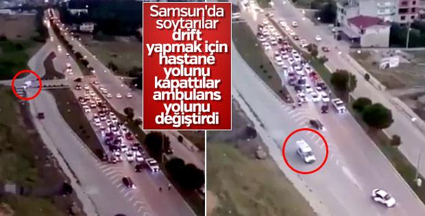 Trafik magandaları yüzünden ambulans yol değiştirdi
