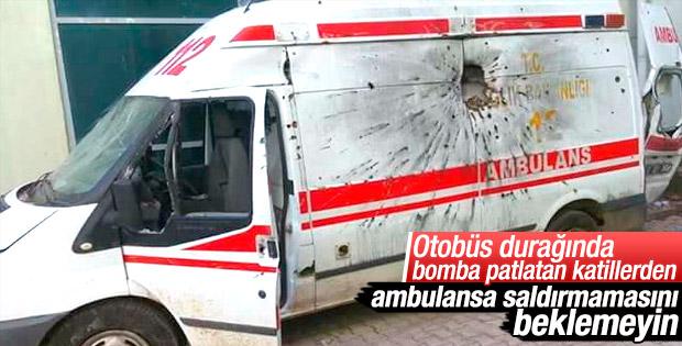 Teröristler ambulansa saldırdı