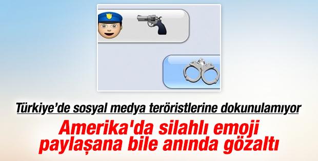 Amerika'da silahlı emoji paylaşan gence gözaltı