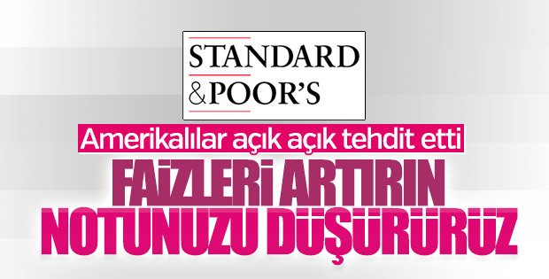 S&P Türkiye'nin faizleri artırmasını bekliyor