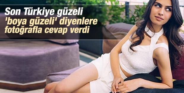 Türkiye güzeli Amine Gülşe makyajsız fotoğrafını paylaştı