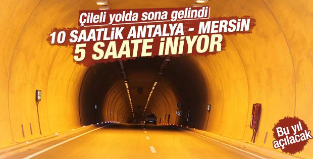 Anamur-Gazipaşa yolunda 4 tünel hizmete girecek