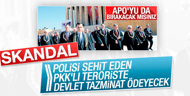 Devlet teröriste 5 bin lira tazminat ödeyecek