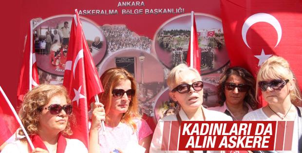 Ankara'da kadınlar askerliğe başvurdu