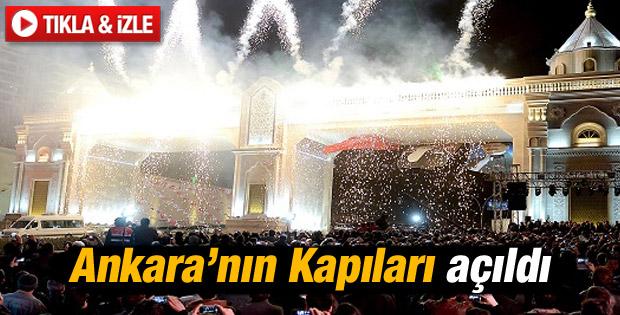 Ankara'nın sembol kapıları törenle açıldı