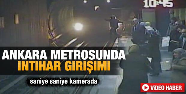 Ankara metrosunda intihar girişimi