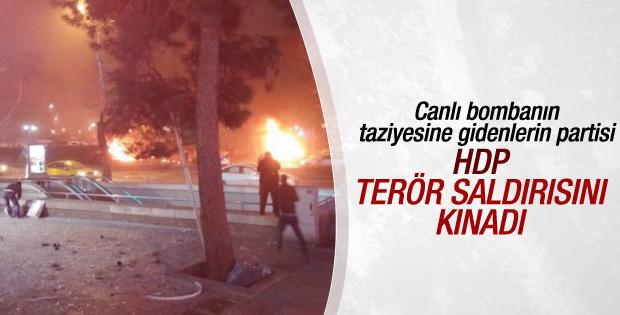 HDP'den Ankara'daki katliamla ilgili açıklama
