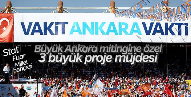 Cumhurbaşkanı Erdoğan Ankara mitinginde