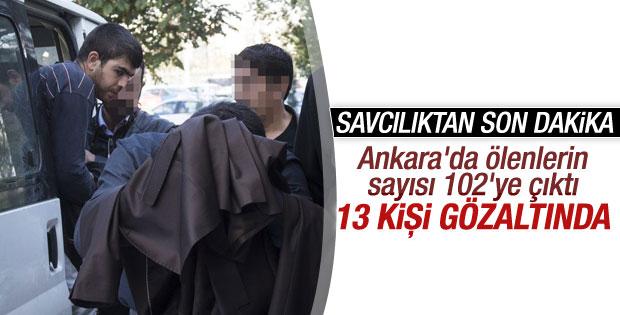 Ankara'daki katliamda can kaybı sayısı 102'ye yükseldi