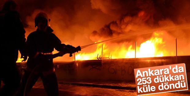 Ankara'da 250 iş yeri yandı