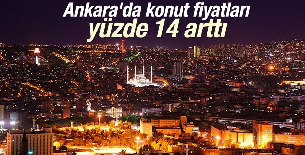 Ankara'da konut fiyatları yüzde 14 artış gösterdi