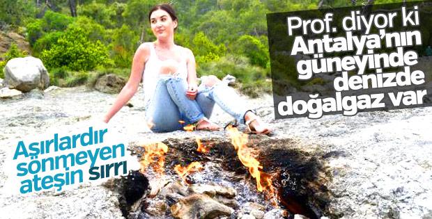 Antalya'daki Yanartaş'ta doğalgaz müjdesi