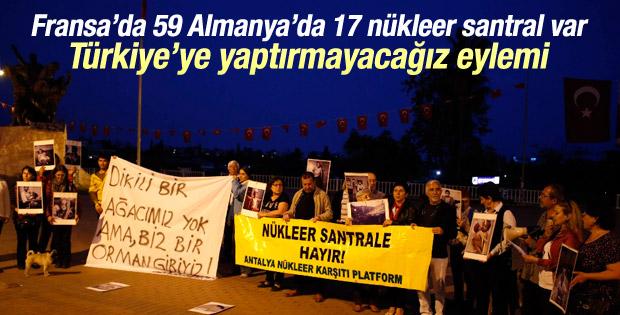 Antalya'da nükleer enerji karşıtı protesto