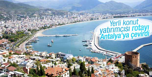 Yerli yatırımcının Antalya'ya ilgisi arttı