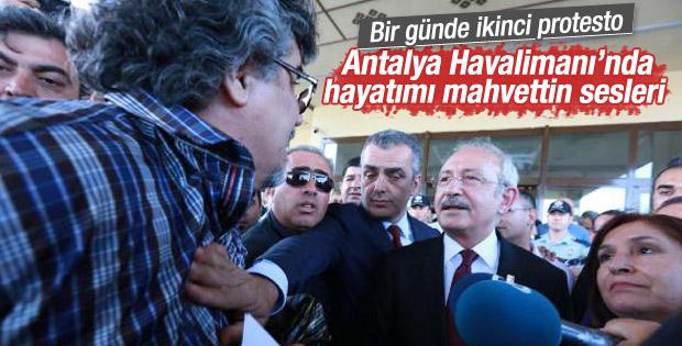Kemal Kılıçdaroğlu Antalya'da protesto edildi