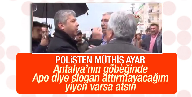 Polisten HDP'lilere sert tepki