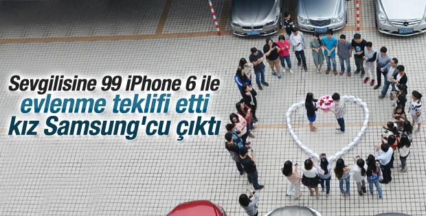 Çin'de 99 iPhone 6 ile evlenme teklifi
