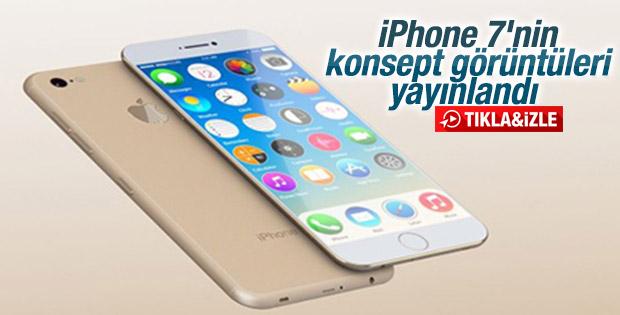 iPhone 7'nin konsept görüntüleri ortaya çıktı İZLE