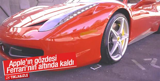 iPhone 6S'in üzerinden Ferrari ile geçtiler